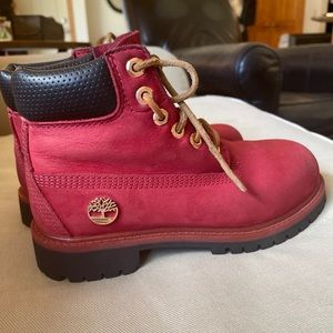 Timberland Limited Edition Red Kids Boots Size 13